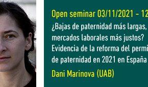 Open Seminar ¿Bajas de paternidad más largas, mercados laborales más justos?