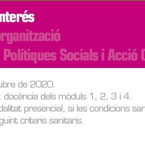Planificació i organització del Màster Oficial de Polítiques Públiques i Acció Comunitària 2020-21